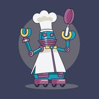 illustration de robot cuisinier