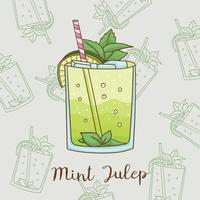 Hand Drawn Mint Julep