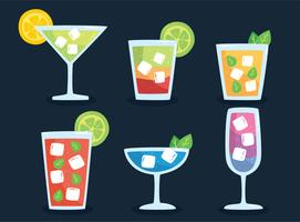 Verse cocktail collectie vector