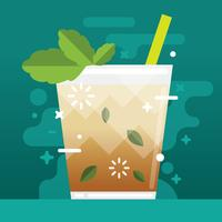 Simple Mint Julep Illustration