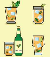 mint julep vector pack