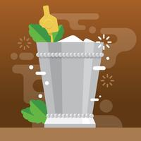 Beautiful Flat Mint Julep Illustration