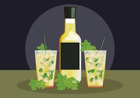 Minze Julep Illustration