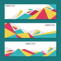 Banners geométricos simples e elegantes