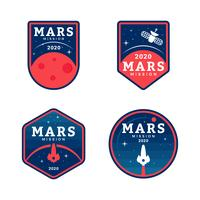 Mission to Mars Patch Collection