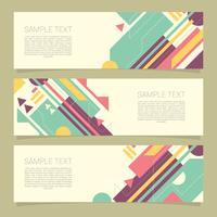 Elegante geometrische banners