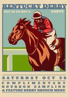 Concept d'invitation Kentucky Derby Party
