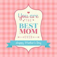 Vettore felice della carta di giorno di madri