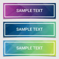 Abstract Geometric Triangular Banners Collection vector