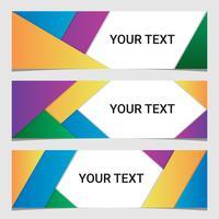 Abstract Geometric Banners Collection vector