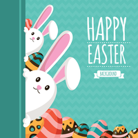 Feliz Easter Memphis Illustration