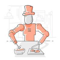 Futurista Ai Chef vectores