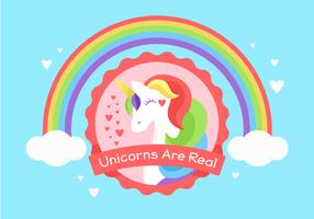 Unicorn Background Ilustration vettore