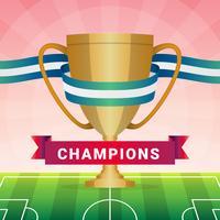 champions league trophy illustration