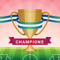 Champions League-Trophäe-Illustration