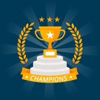 Champion Winner Design Vector