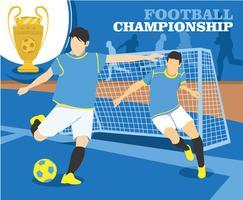 Vector de campeonato de futebol