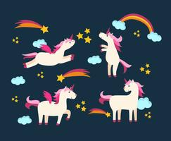 Unicorns in the Sky Vector