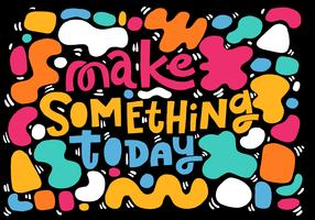make something quote lettering