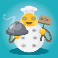 illustration de chef ai
