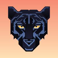 Black Panther Mascot Animal Character