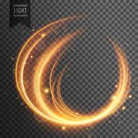 vector de efecto de luz transparente con curvas