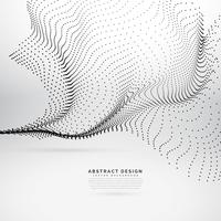 abstract flowing wave made with black dots