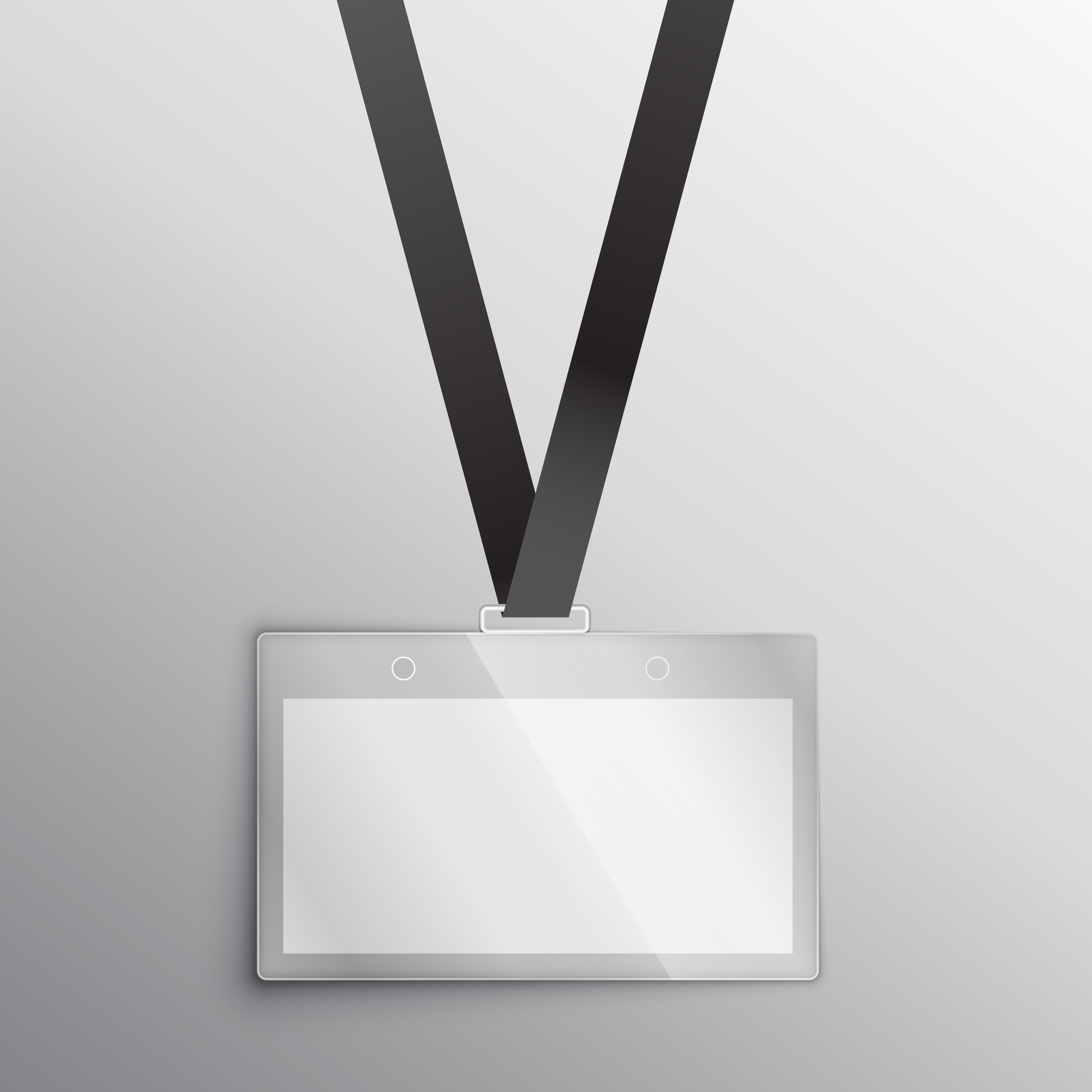 lanyard with badge, access card design mockup - Download Free Vector ...