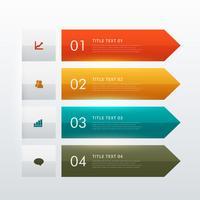 Infographik Vorlage für Unternehmen mit vier Optionen