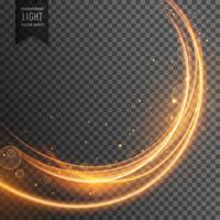 schöner goldener Lichteffekt im Wellenstil
