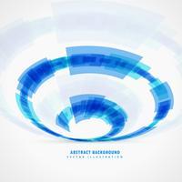 Fondo geométrico abstracto remolino azul
