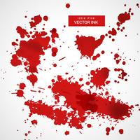 collection of red ink splatter background