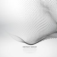 Malla de onda de partícula 3d abstracto en estilo de tecnología cibernética