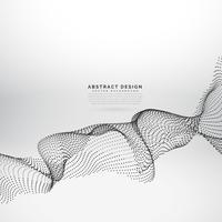 abstracte deeltjes dynamische golf vector achtergrond
