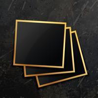 stack of golden photo frame