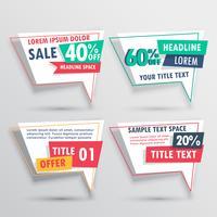 Rabatt und Angebote Verkauf Banner Sammlung