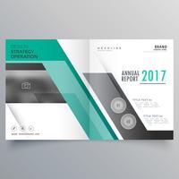 design de brochura de negócios revista bifold elegante para sua marca