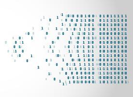 fondo di concetto di tecnologia del netwrok di codice binario