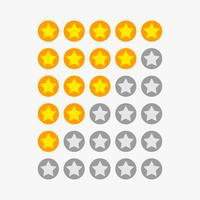 symboles de classement étoiles