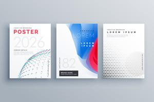 modèle de brochure minimal design de couverture créative en taille A4 fait