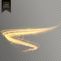 gyllene genomskinliga ljus effekt bakgrund