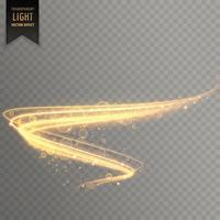 golden transparent light effect background