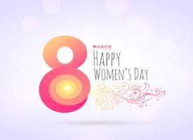 Fondo de saludo del día de la mujer creativa con decoración floral.
