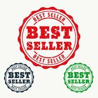 beste verkoper rubberstempel teken