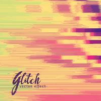 glitch vector effect in retro colors