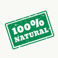 Sello 100% natural en vector.