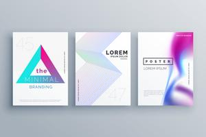 minimal cover template design set in clean style