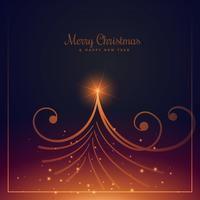beautiful merry christmas greeting design with creative christma