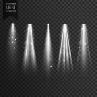 stage transparent spotlight effect vector