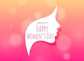 kreatives Design des weiblichen Gesichtes für den Tag der Frau
